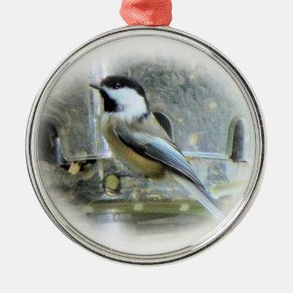 Chickadee Metal Ornament