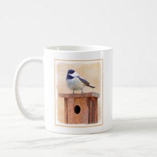 Chickadee on Birdhouse Coffee Mug