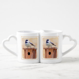 Chickadee on Birdhouse Coffee Mug Set
