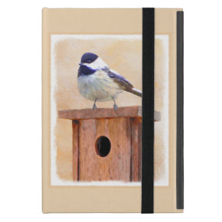 Chickadee on Birdhouse iPad Mini Cover