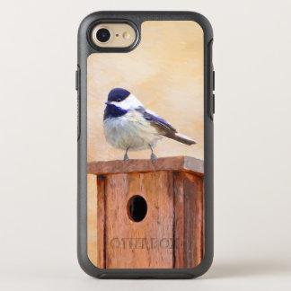 Chickadee on Birdhouse OtterBox Symmetry iPhone 8/7 Case