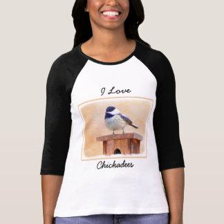 Chickadee on Birdhouse T-Shirt