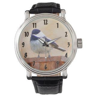 Chickadee on Birdhouse Watch