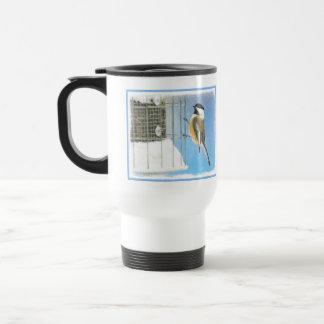 Chickadee on Feeder Travel Mug