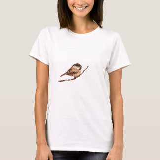 Chickadee Pyrography T-Shirt