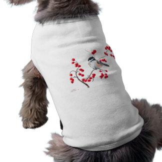 CHICKADEE & RED BERRIES by SHARON SHARPE Shirt