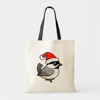 Chickadee Santa Tote Bag