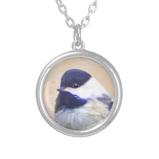 Chickadee Silver Plated Necklace