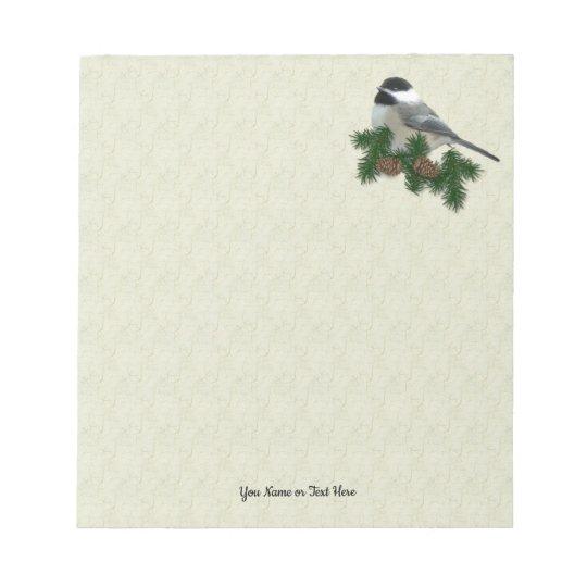 Chickadee Small Custom Notepad