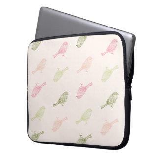 Chickadee Soft Pattern Laptop Sleeve