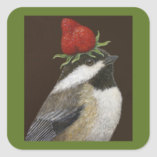 chickadee/strawberry stickers