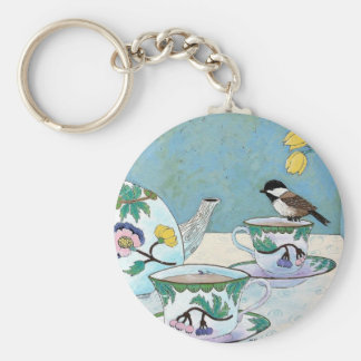 Chickadee to Tea Key Ring