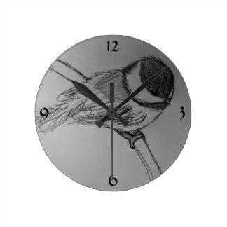 Chickadee Wall Clock