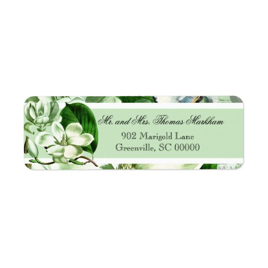 Chickadees and Magnolias Custom Address Labels