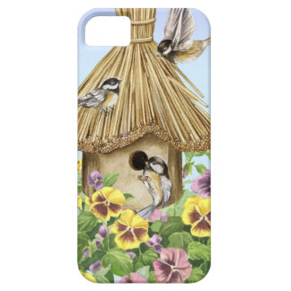 Chickadees Birdhouse Barely There iPhone 5 Case