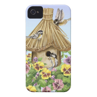 Chickadees Birdhouse Case-Mate iPhone 4 Case