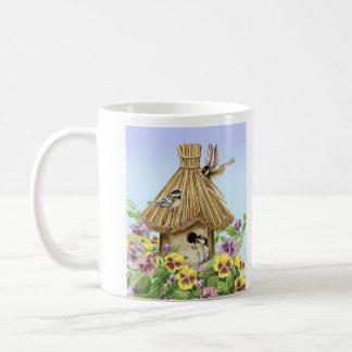 Chickadees Birdhouse Coffee Mug