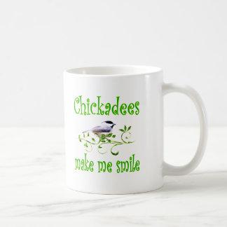 Chickadees Make Me Smile Coffee Mug