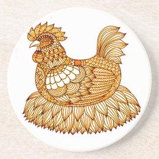 Chicken 2 coaster
