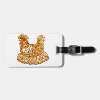 Chicken 2 luggage tag