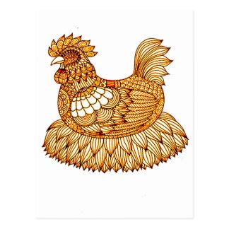 Chicken 2 postcard