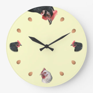 Chicken and egg wallclock