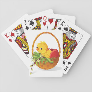 Chicken And Eggs In Basket Playing Cards
