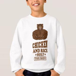 Chicken And Rice Built This Body fitness Sweatshirt
