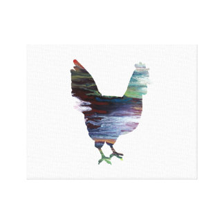 Chicken Art Canvas Print
