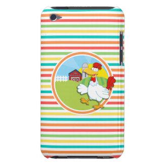 Chicken Bright Rainbow Stripes iPod Case-Mate Case