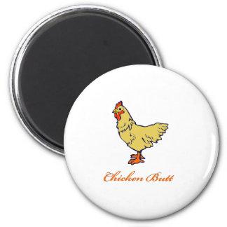 Chicken Butt 6 Cm Round Magnet