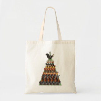 Chicken Christmas Tree Tote Bag