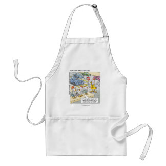 Chicken Crossing Road Funny Apron Aprons