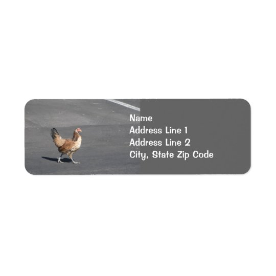 Chicken Crossing the Road Return Address Label