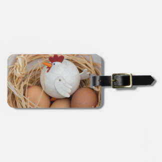 Chicken & eggs luggage tag