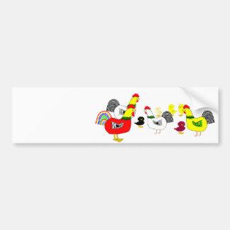 Chicken Family Bumper Sticker
