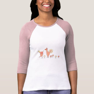 Chicken Family Farming Artwork Design T-Shirt