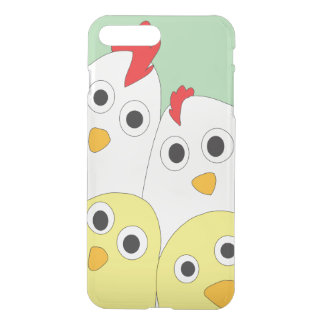 Chicken Family Green Background Clearly iPhone 7 Plus Case