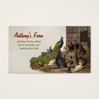 chicken farm business card