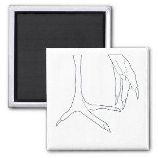 chicken feet square magnet