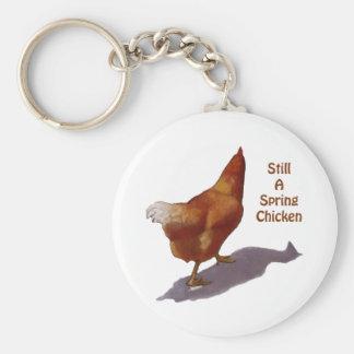 Chicken: Getting Older: Spring Chicken Key Ring
