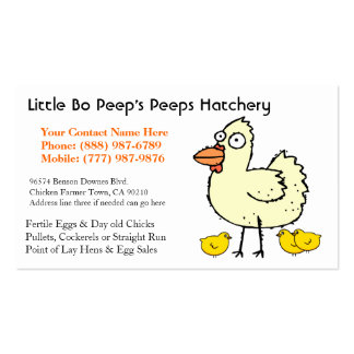 Chicken Hatchery Business or Poultry Producer Pack Of Standard Business Cards