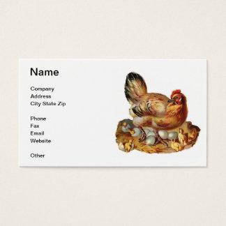 Chicken Hen Chicks & Eggs Business Card