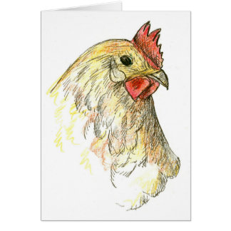 Chicken Hen Farm Animal Thank You Card