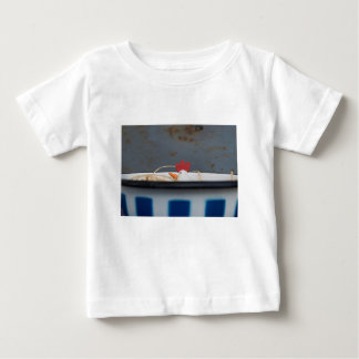 Chicken in a checkered bowl baby T-Shirt