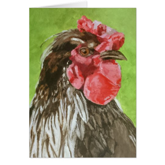 Chicken in Profile Greeting Card