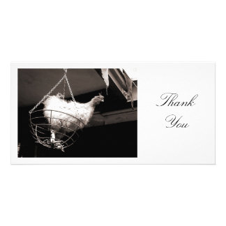 Chicken in the Basket - Thank You Photo Greeting Card