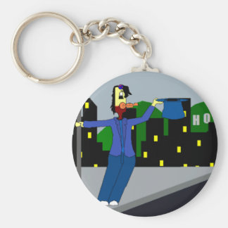 Chicken In The Rain - Bock Keyring! Key Ring