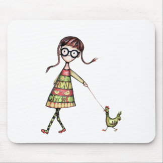 Chicken kid mouse pad