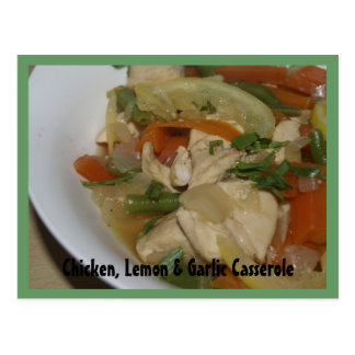 Chicken, Lemon & Garlic Casserole Recipe Card